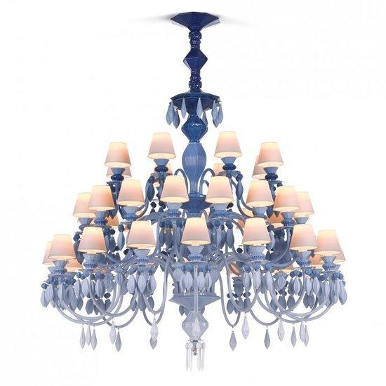 Belle de nuit chandelier 40 lights blue lladro treniq 1 1513356205120