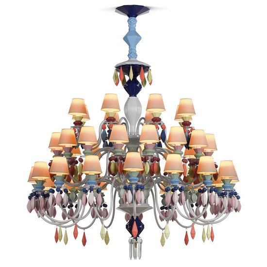 Belle de nuit chandelier 40 lights multicolor lladro treniq 1 1513356969479