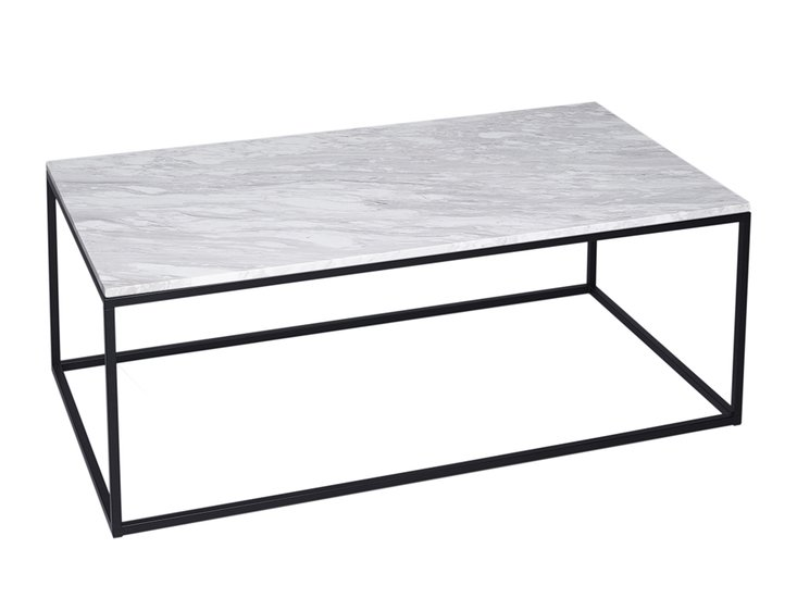 Kensal marble with black base rectangular coffee table gillmorespace limited treniq 1 1513590780034
