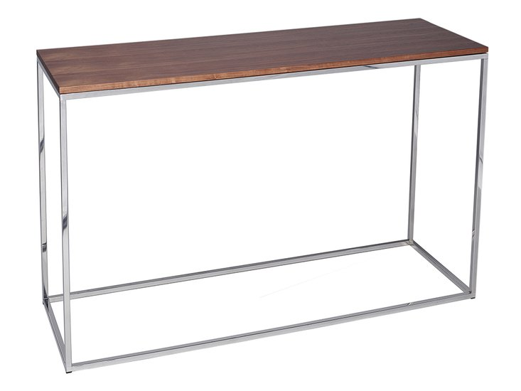 Kensal walnut with polished base console table gillmorespace limited treniq 1 1513591160912