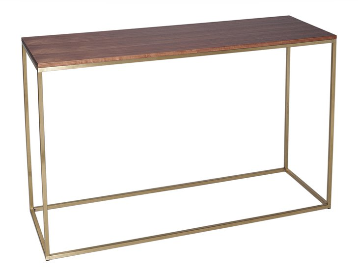Kensal walnut with brass base console table gillmorespace limited treniq 1 1513591603229