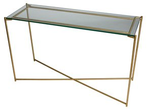 Iris-Large-Console-Table-Clear-Glass-With-Brass-Frame_Gillmore-Space-Limited_Treniq_0