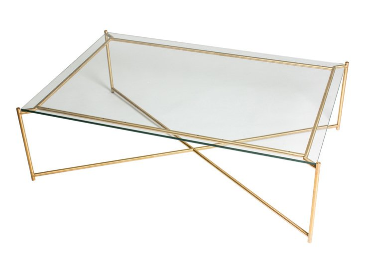 Iris rectangle coffee table clear glass with brass frame  gillmorespace limited treniq 1 1513593554399