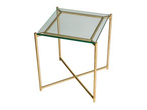 Iris-Square-Side-Table-Clear-Glass-With-Brass-Frame_Gillmore-Space-Limited_Treniq_0