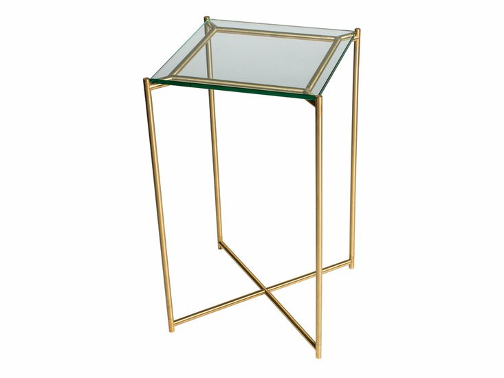 Iris square plant stand clear glass with brass frame gillmorespace limited treniq 1 1513593672082