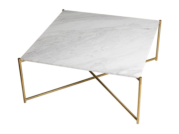 Iris square coffee table white marble with brass frame gillmorespace limited treniq 1 1513594267262