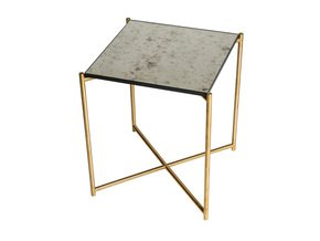Iris-Square-Side-Table-Antiqued-Glass-With-Brass-Frame_Gillmore-Space-Limited_Treniq_0