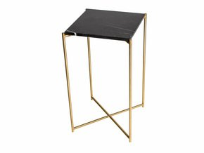 Iris-Square-Plant-Stand-Black-Marble-With-Brass-Frame_Gillmore-Space-Limited_Treniq_0