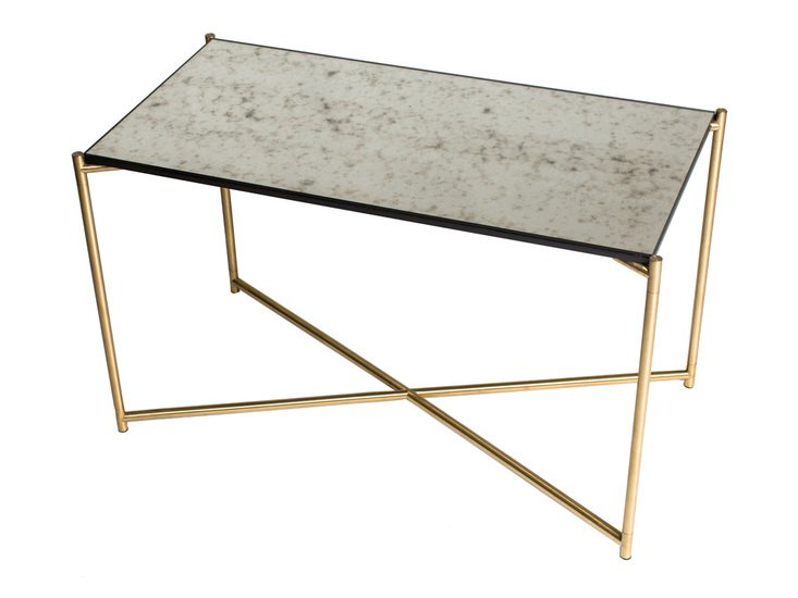 Iris rectangle side table antiqued glass with brass frame gillmorespace limited treniq 1 1513595057013