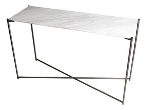 Iris-Large-Console-Table-White-Marble-With-Gun-Metal-Frame_Gillmore-Space-Limited_Treniq_0