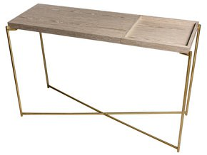 Iris-Large-Console-Table-Weathered-Oak-Top-&-Small-Tray-With-Brass-Frame_Gillmore-Space-Limited_Treniq_0