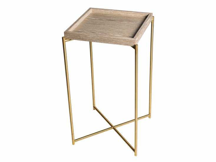 Iris square plant stand weathered oak tray with brass frame gillmorespace limited treniq 1 1513608772563