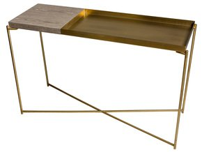 Iris-Large-Console-Table-With-Small-Weathered-Oak-Top-And-Large-Brass-Tray-With-Brass-Frame_Gillmore-Space-Limited_Treniq_0