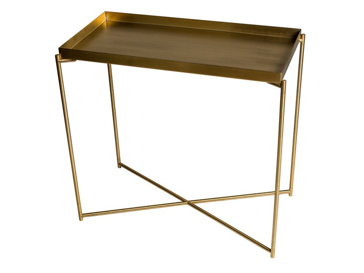 Iris small console table tray top brass with brass frame gillmorespace limited treniq 1 1513609045839