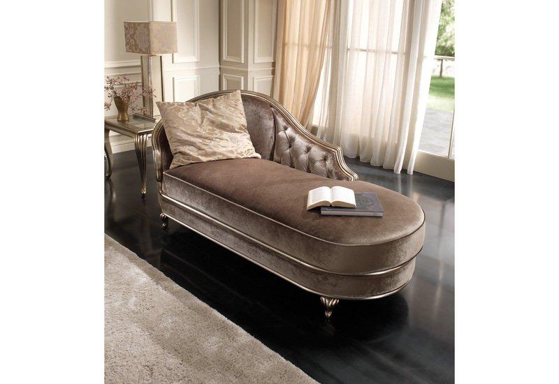 Eden chaise longue gold confort treniq 1