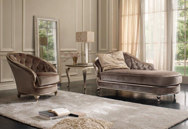 Eden chaise longue gold confort treniq 3