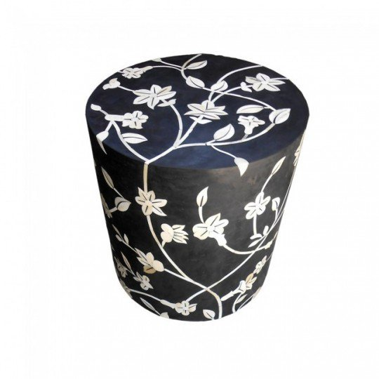 Luxurious floral design bone inlay stool shakunt impex pvt. ltd. treniq 1 1513753381120