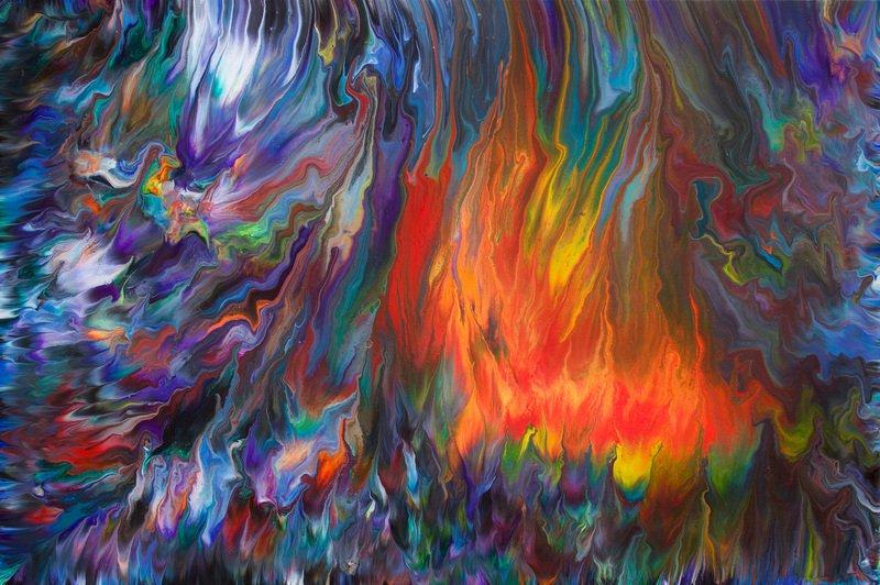 Wild fire  original abstract painting  alexandra romano art treniq 1 1513887682311