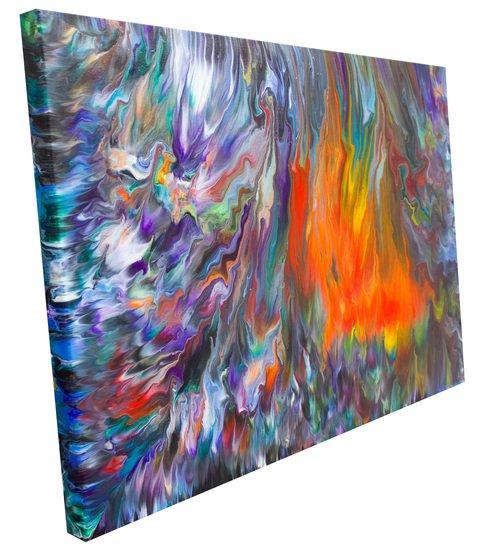 Wild fire  original abstract painting  alexandra romano art treniq 3 1513888095962