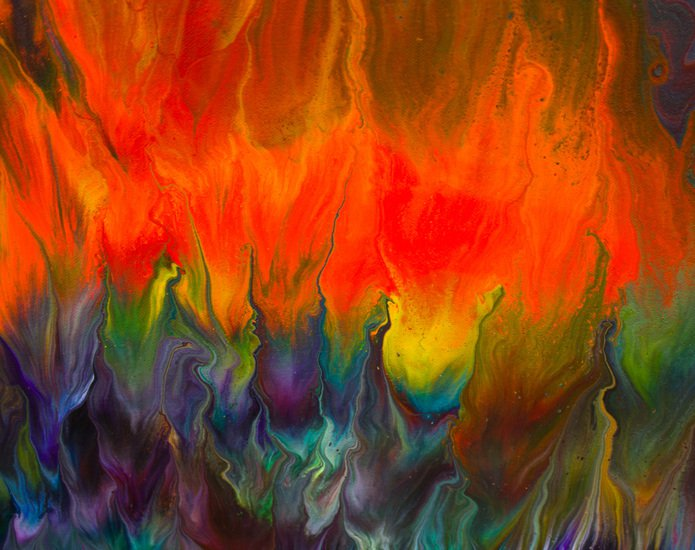 Wild fire  original abstract painting  alexandra romano art treniq 3 1513888140472