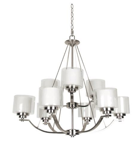 Abbot nine light 2 tier chandelier 2 tl custom lighting treniq 1 1514334862225