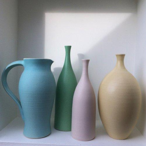 Mint green bottle vase lucy burley ceramics treniq 1 1514637821604