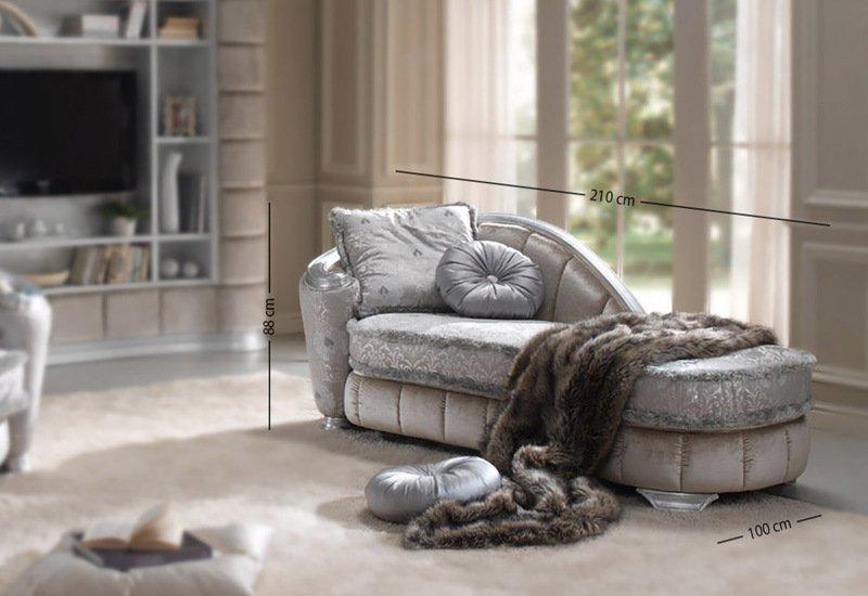 Glamour chaise longue gold confort treniq 3
