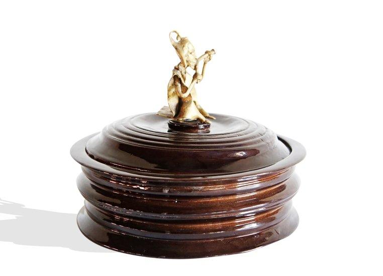 Black bread box with bronze man handle avana africa treniq 1 1515839082247