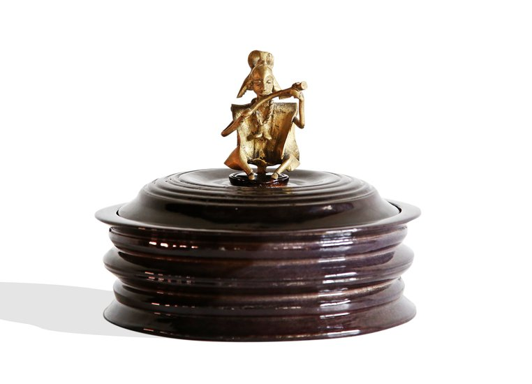 Black bread box with bronze man handle avana africa treniq 1 1515839082243