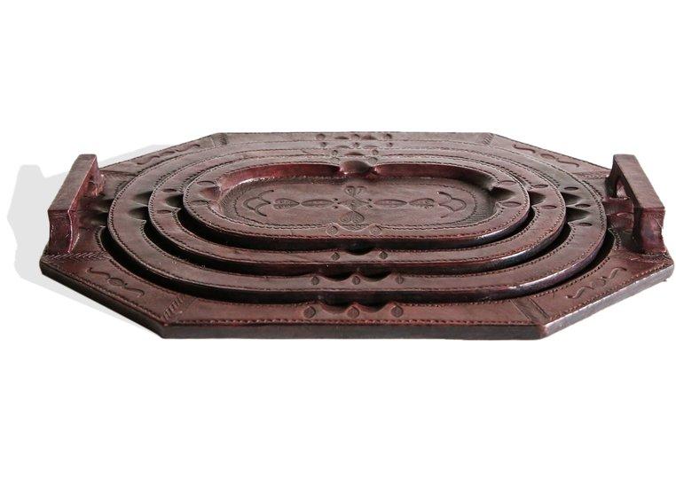 Touareg set of 4 trays dark mahogany avana africa treniq 1 1515841744733