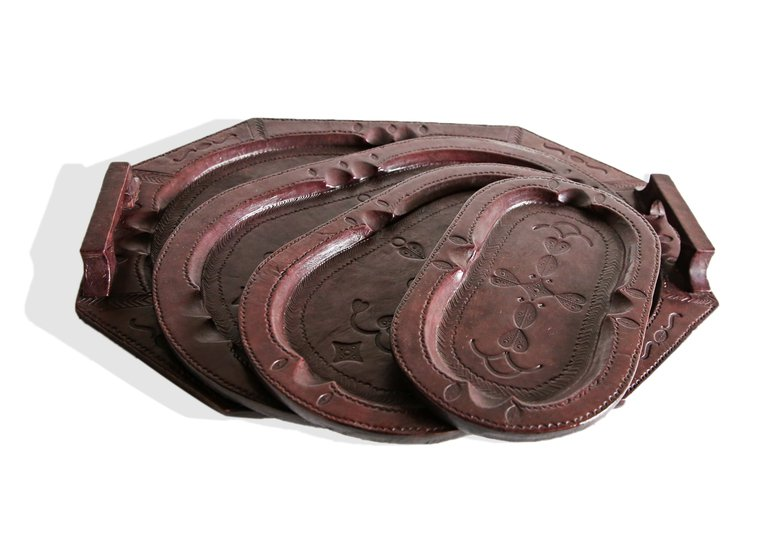 Touareg set of 4 trays dark mahogany avana africa treniq 1 1515841744754