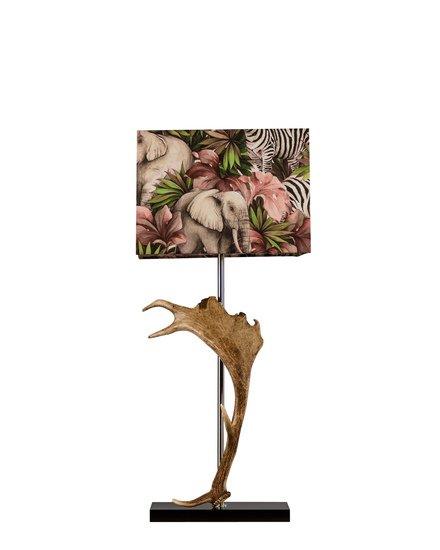 Deer horn lamp with zebra print shade jess latimer treniq 1 1515985199076