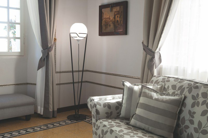 Up floor lamp burnished with murano glass and dedicated led lightsource younique plus treniq 1 1516182666481