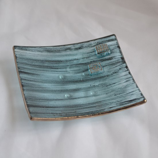 Bowl green with oldplatinum 12x12 shallow arteglass treniq 6 1516293627536