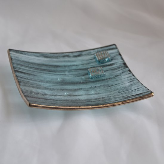 Bowl green with oldplatinum 12x12 shallow arteglass treniq 6 1516293627528