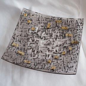 Bowl-Brown-With-Gold-30x30-Shallow_Arte-Glass_Treniq_0