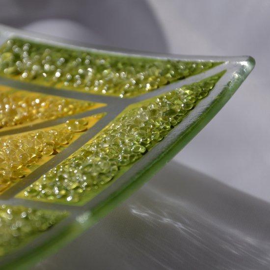 Bowl green yellow 20x20 shallow arteglass treniq 6 1516293877083