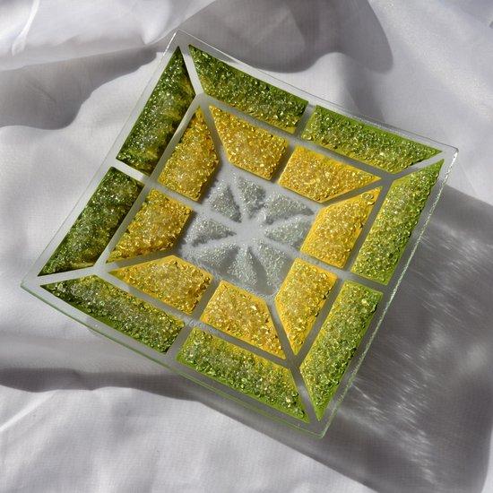 Bowl green yellow 20x20 shallow arteglass treniq 6 1516293877081