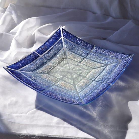 Bowl blue white 30x30 shallow arteglass treniq 6 1516294096258
