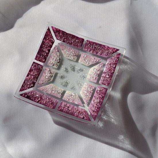 Bowl violet white 12x12 shallow arteglass treniq 6 1516294214967