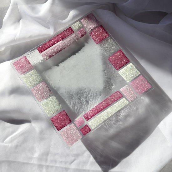 Bowl violet white 27x27 plate arteglass treniq 5 1516294351160