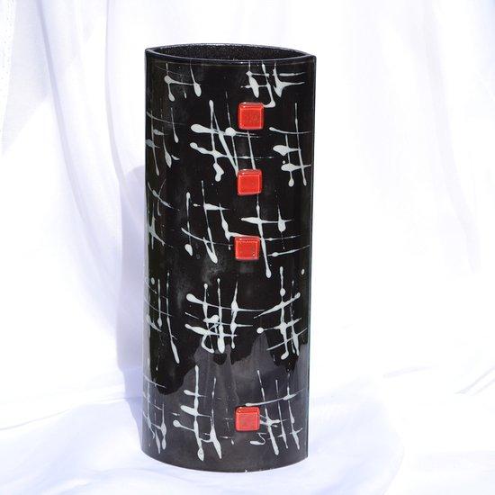 Vase black white 30 cm rounded arteglass treniq 7 1516294874778