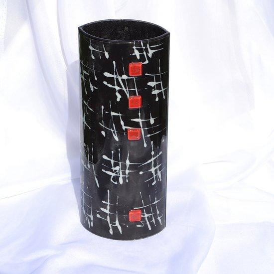 Vase black white 30 cm rounded arteglass treniq 7 1516294874786