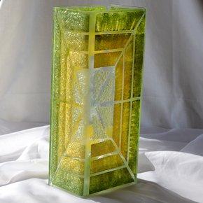 Vase-Green-Yellow-30-Cm-Square_Arte-Glass_Treniq_0