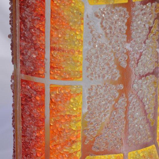 Vase orange yellow red 30 cm rounded arteglass treniq 7 1516295133044