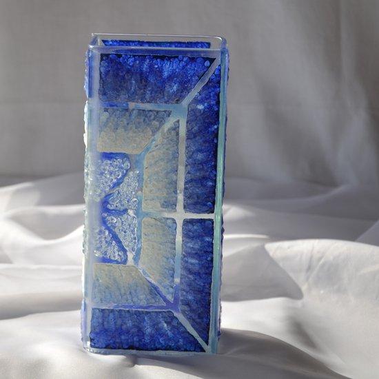 Vase blue white 20 cm square arteglass treniq 5 1516295181145