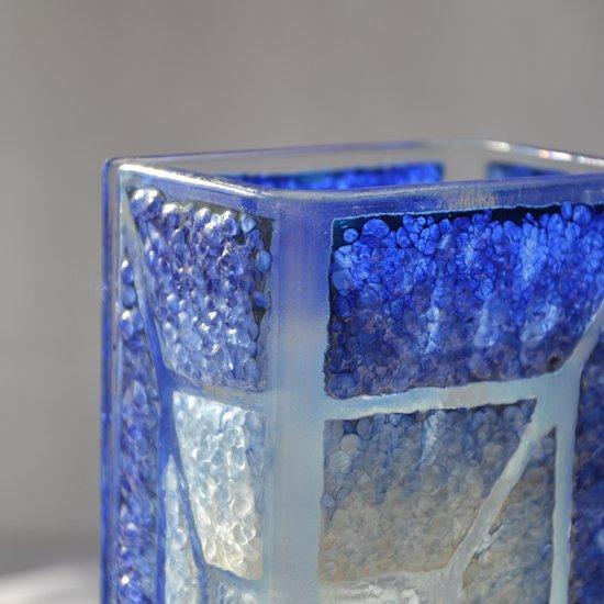 Vase blue white 20 cm square arteglass treniq 5 1516295181142