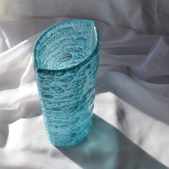 Vase turquoise 30 cm rounded arteglass treniq 6 1516295250792