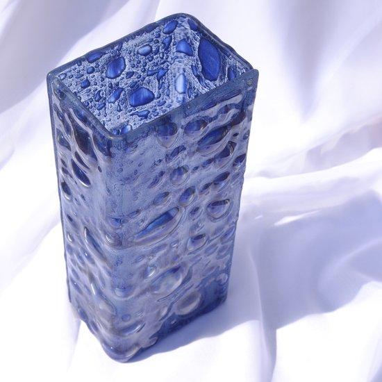 Vase dark blue 30 cm square arteglass treniq 8 1516295293913