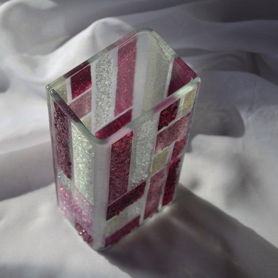 Vase violet white 20 cm square arteglass treniq 5 1516295338384